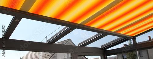 Fotografie, Obraz a modern new conservatory with awning