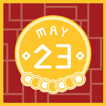 May 23, Calendar Icon Illustration Isolated Sign Symbol, Sale Promotion.