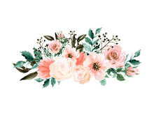 Watercolor Elegant Vintage Bou...
