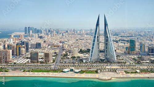 Photo Panoramic view of Manama city in Bahrain