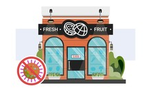 Fresh Fruit Shop Storefront Wi...