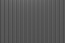 Black Corrugated Metal Texture, Dark Abstract Background. 3d Texture.