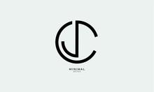 Alphabet Letter Icon Logo CJ Or JC