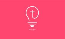 Line Art Icon Logo Of A Bulb W...