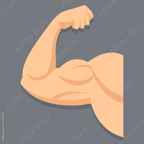Fotografiet Strong arm with contracted biceps