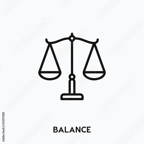 Fotomural balance icon vector