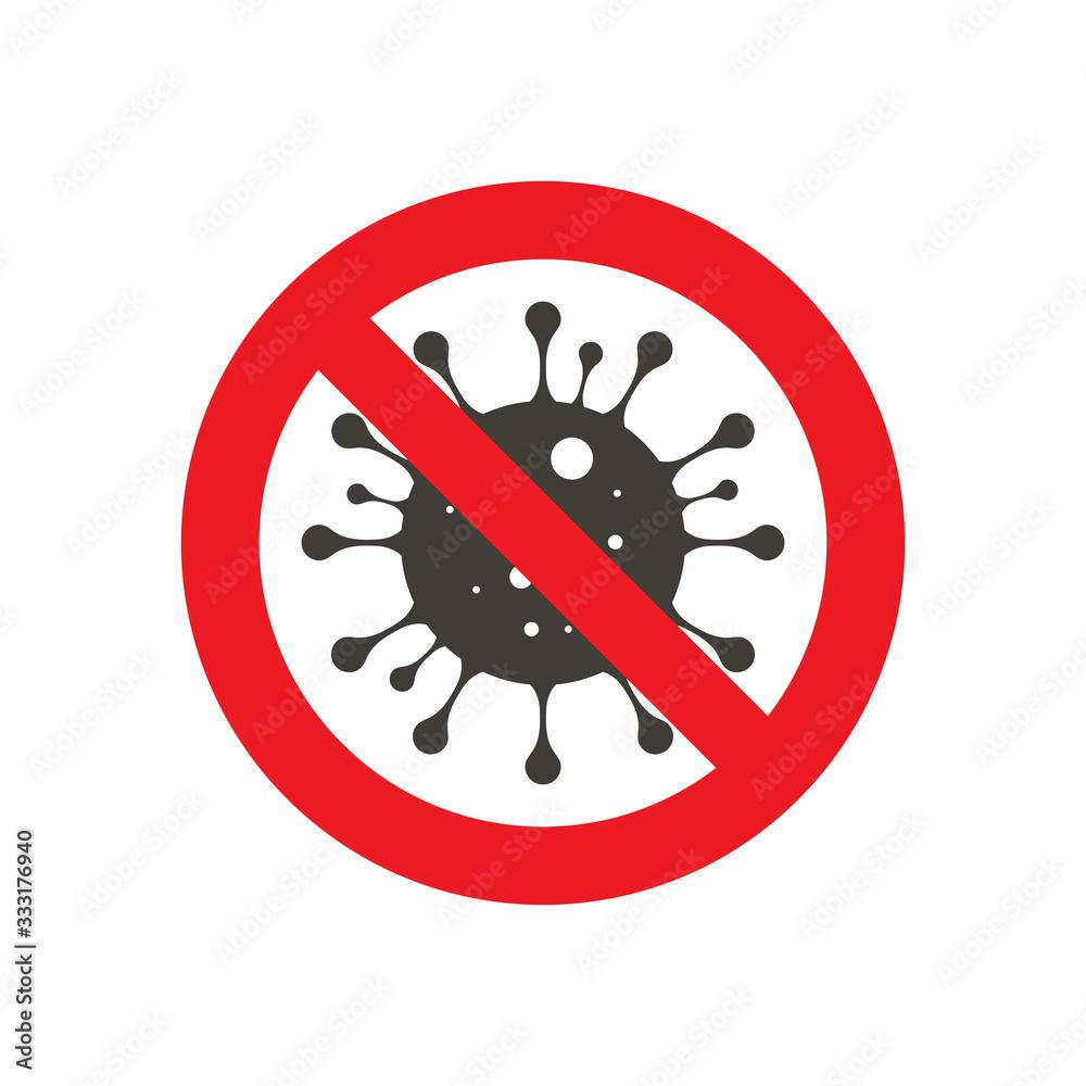 Fototapeta Sign caution coronavirus