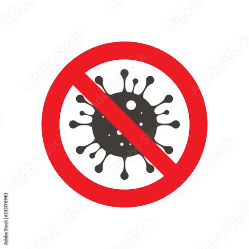 Photo Sign caution coronavirus