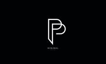 Alphabet Letter Icon Logo PP