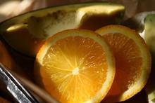 Avocado With Orange Slices