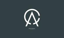 Alphabet Letter Icon Logo CA Or AC