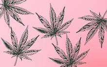 Line Art Marijuana Cannabis Le...
