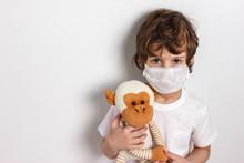 Portrait Of Kid Wearing Medica...