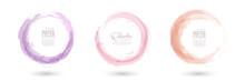 Circle Splash With Pastel Wate...