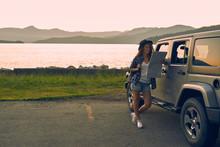 Female Traveller Enjoying Off-...