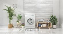 Laundry Room, 3d Illustration