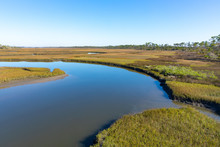 View Of A Salt Marsh Along Th...