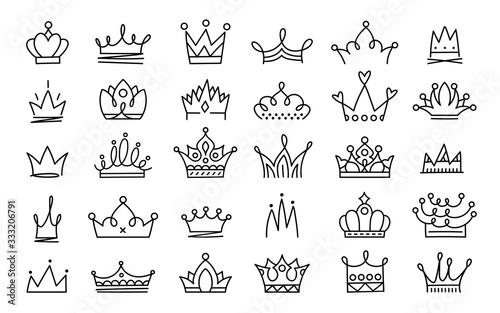 Foto Doodle crowns