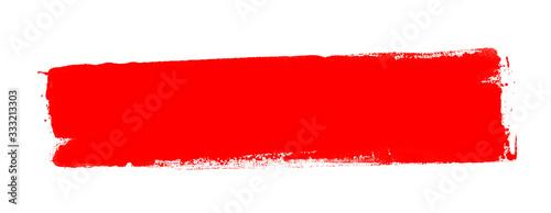 Obraz Grunge Banner mit roter Farbe als Hintergrund - fototapety do salonu