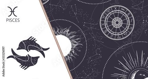 Fotografie, Tablou Zodiac background