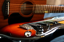 Electric Guitar And Acoustic G...