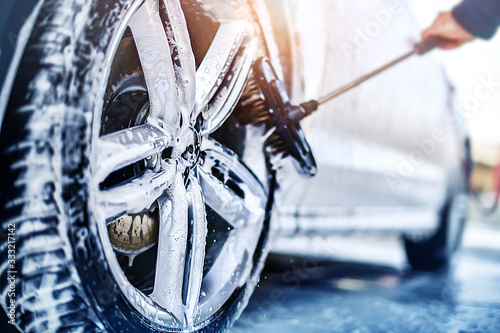 Fotografie, Obraz Car wheel wash