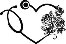 Nurse Stethoscope Eps / Floral...