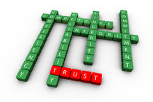 3d Render Of Trust Concept Crossword