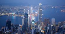 Hong Kong Landmark In The Eve...