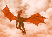Red Hell Dragon Passing By On ...