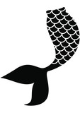 Fototapeta Fototapety na ścianę do pokoju dziecięcego - Mermaid tail eps / Mermaid eps / Whale mermaid monogram frame eps,  / Instant download