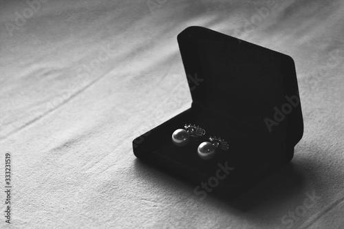 Photo caixa, aneis, anéis, joalheria, presente, metal, de ouro, boda, objetos, luxo, n