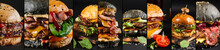 Collage Of Various Burgers On ...