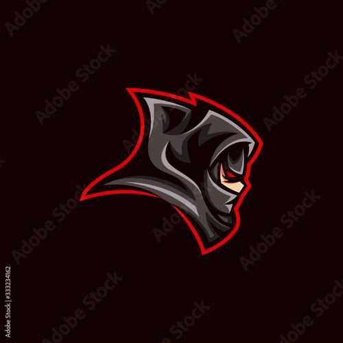 Fotografía Ninja e sport gaming mascot logo design