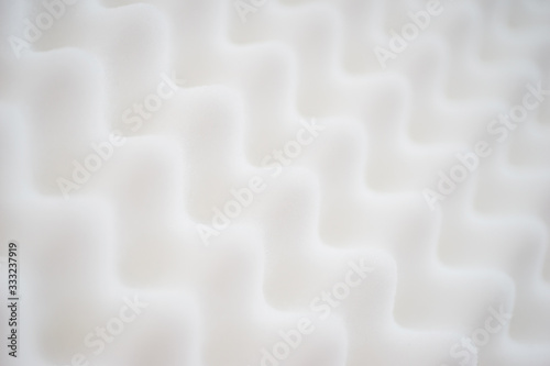 White gradient abstract background with many waves at different angles Wallpaper Mural