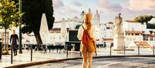 Young Tourist Traveling Throug...