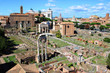 View of the ruins of ancient Rome