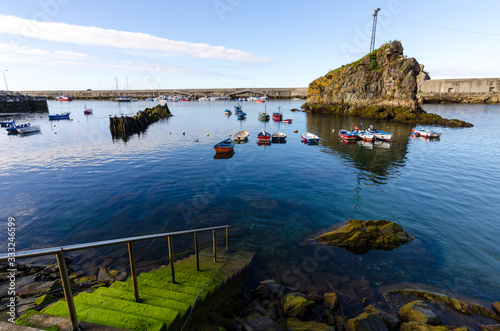 Cudillero, is a picturesque fishing village, with an abrupt coast in Asturias (N Canvas Print