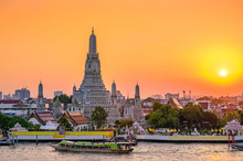 Wat Arun Temple In Bangkok Tha...