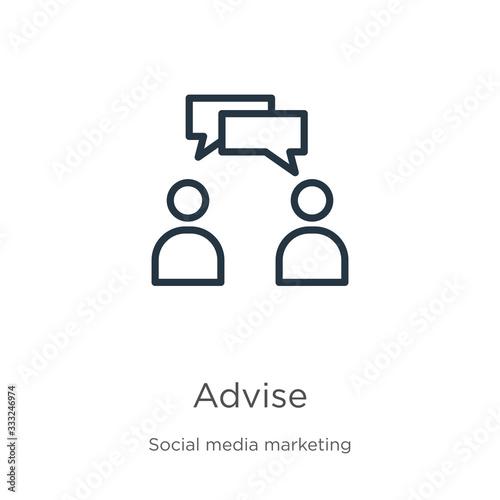 Advise icon Wallpaper Mural