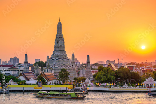 Wat Arun Temple in bangkok Thailand Wallpaper Mural