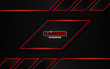 Abstract futuristic black and red gaming background with modern esport shapes. Vector design template technology concept can use element game banner, sport poster, cyber wallpaper, web, advertising
