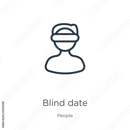 Blind date icon Wallpaper Mural
