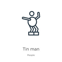 Tin Man Icon. Thin Linear Tin ...