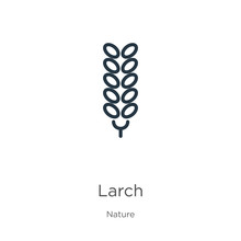 Larch Icon. Thin Linear Larch ...