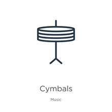 Cymbals Icon. Thin Linear Cymb...