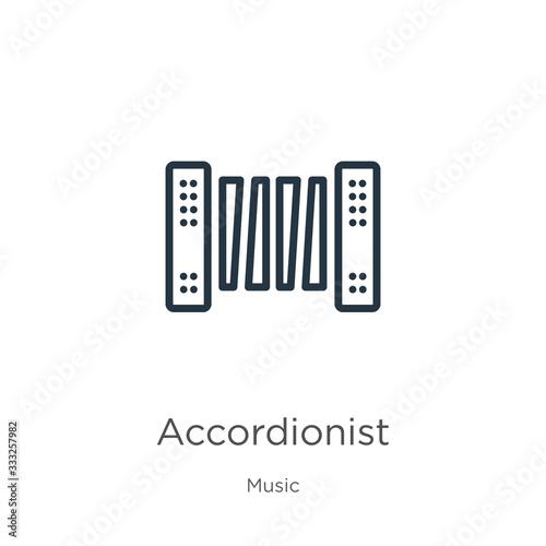 Accordionist icon Tapéta, Fotótapéta