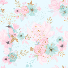 Floral Seamless Pattern With B...