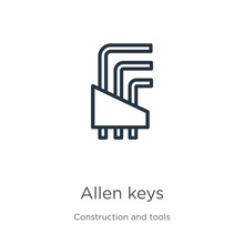 Allen Keys Icon. Thin Linear A...