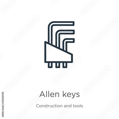 Allen keys icon Wallpaper Mural